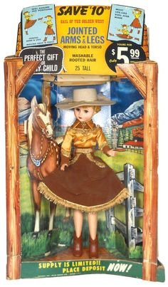 Western cowgirl store display doll,  Gail of the Golden West , c.1958