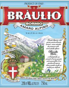 Braulio amaro from the Valtelinna Valley in the Lombardy region of Italy.