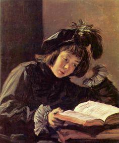 Menino lendo Frans Hals ( Antuérpia, 1583- Holanda, 1666) óleo sobre tela  76 x 63  cm Coleção  Dr. Oscar Reinhardt (Winterthur)