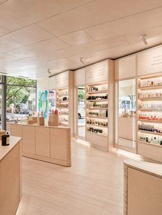 Boutique Interior, Interior Shop, Clinic Interior Design, Cosmetic Shop, Cosmetic Stores, Perfume Store, Beauty Salon Decor, Makeup Store, Store Interiors