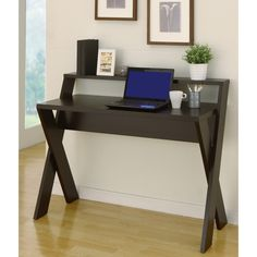 Intersecting Cappuccino Home/ Office Desk | Overstock.com