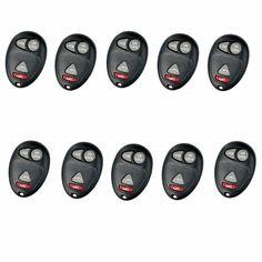 Remotes Keyless Shell for Buick Rendezvous Pontiac Aztek Car Key Case 4Bts 10PCS