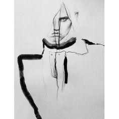 Fashion illustration for Alexander Wang A/W 2015 // Amy Payne