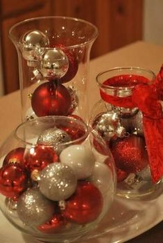 Image result for christmas party decor gold and red