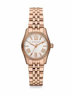 Michael Kors - Rose Goldtone-Finished Stainless Steel Bracelet Watch - Saks.com