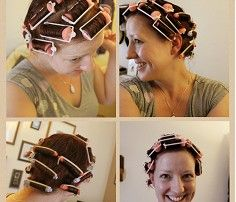 A Week in the Life of Hair   Retro Chick how to roll your rollers or curlers on your head,rod placement