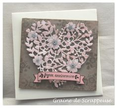 Coeur de dentelle #amour #occasion2016 #stampin'up