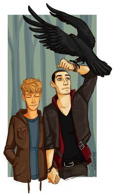 Ronan, Adam and Chainsaw #pynch #ronanxadam #theravencycle