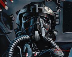 Oil on canvas Tie Fighter, Fighter Pilot, Empire Wallpaper, Star Wars History, Boba Fett Helmet, Star Wars Spaceships, Star Wars Novels, Star Wars Fan Art, Star Wars Characters