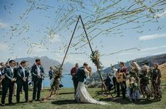 ⚡️✨Glorious ✨⚡️ Kaye and Edward's day featuring our new triangle arch. Styling and planning by @onefinedayweddings - photo by the very…