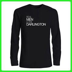 Idakoos - Real men love Darlington - US Cities - Long Sleeve T-Shirt - Cities countries flags shirts (*Amazon Partner-Link)