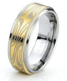Tungsten Carbide Men's Engagement Wedding Band Ring with Shakudo Mokume Gane   eBay