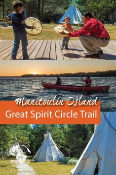 Manitoulin Island in Ontario, Canada, is the largest freshwater island in the world. It is also the home of several First Nations tribes. The Great Spirit Circle Trail offers authentic aboriginal experiences as a way to learn more about the nature and cul Manitoulin Island, Discover Canada, Newfoundland And Labrador, Travel Inspiration, Travel Ideas, Travel Tips, Travel Destinations, Culture Travel, Canada Travel