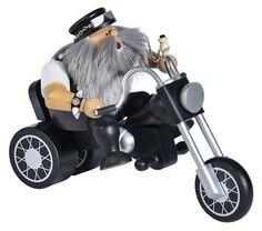 KWO CHUBBY BIKER ON MOTORCYCLE German Incense Smoker  #KWO