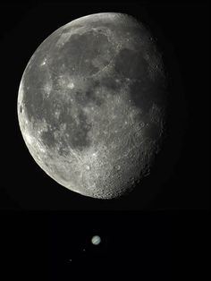 Moon And Jupiter.. Image by Charles Chiofar - http://ift.tt/1HQJd81