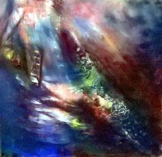 Sue Gardner , The Orchard Gate soft pastel, 30 x 30cm Donisthorpe, Derbyshire