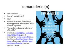 camaraderie meaning #gre #cat #vocabulary
