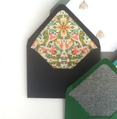Wow, the big surprise is on the inside of these beautiful #envelopes -- pattern inside