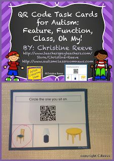 Autism Classroom News: http://www.autismclassroomnews.com    Freebie! Language Master and QR Code Materials: Setting Up Classrooms for Students with Autism by Autism Classroom News: http://www.autismclassroomnews.com