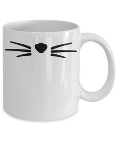 Cat Nose and Whiskers Mug Hypoallergenic Cats, Fisher Cat, Cat Nose, What Cat, Cat Drinking, Cat Whiskers, Cute Mugs, Cat Lovers, Canning