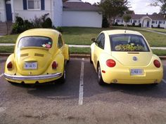 I used to want a car like the right one when I was younger. When I see cars like the one on the left, I think of footloose!