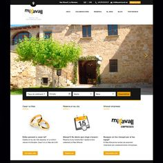 Pàgina web d'una empresa de celebracions (Espai Miravall). Diseño de página web responsive (adaptada a dispositivos móbiles).  www.espaimiravall.cat