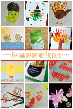 So many fun handprint art projects for kids to make featured at Kids Activities Blog.