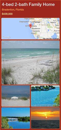 4-bed 2-bath Family Home in Bradenton, Florida ►$439,000 #PropertyForSaleFlorida http://florida-magic.com/properties/39087-family-home-for-sale-in-bradenton-florida-with-4-bedroom-2-bathroom