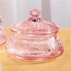 4PC COLLECTIBLE PINK DEPRESSION STYLE GLASS JAR SET~NEW | eBay