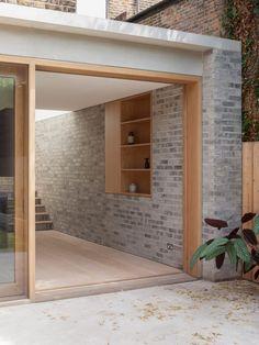 Al-Jawad Pike Private House, Stoke Newington, London — Architecture Detail Architecture, Brick Architecture, London Architecture, Interior Architecture, Futuristic Architecture, Brick Extension, House Extension Design, Extension Designs, House Design