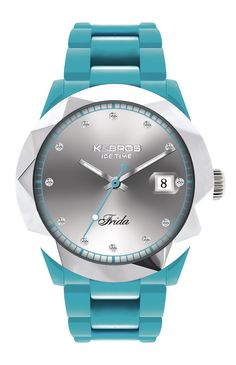 K&BROS Women's 9555-3 Icetime Color Three Hands Polyurethane Watch
