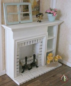 dollhouse miniatures fireplace