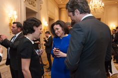 Odile Roujol  and Laurent Solly with Sheryl Sandberg, Paris