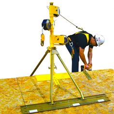 Guardian Fall Protection SkyMast • Fall Protection Safety Systems at Black Cat Fasteners. SkyMast Retractable Anchor Lifeline System.