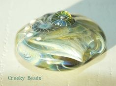 Handmade Lampwork Focal bead - 'Willow the Wisp' - Creeky Beads SRA by CreekyBeads on Etsy https://www.etsy.com/uk/listing/259146089/handmade-lampwork-focal-bead-willow-the