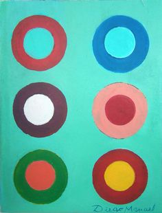Composición con circulos, acrylic on canvas, 20 x 29 cm. 2016