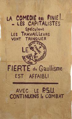 T-SHIRT F sérigraphié LA BEAUTÉ EST DANS LA RUE affiche MAI 68 1968