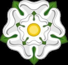 """Rose argent with yellow """"sun of York"""". Too much of a fried egg perhaps?"""