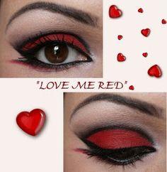 """Make-up Artist Me!: """"LOVE ME RED"""" Make-up Tutorial"""