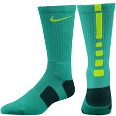 fe3562ded Nike Elite Basketball Crew Sock - Men's - Grey Heather/Atomic Teal Lacrosse  Socks,