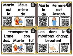 FREEBIE-JOUER AVEC LES MOTS + CODES QR AUDIO - LA NATIVITÉ - Audio, Coding, Teaching, Transportation, Cards, Learning, Education, Teaching Manners, Programming