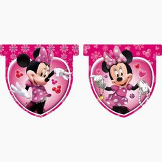 Minnie Wearing Jewelry: Bunting for Parties to Print Out for Free.