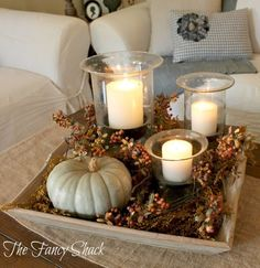 30 Pretty Candle Decoration Ideas for Thanksgiving 30 Pretty Candle Decoration Ideas for Thanksgiving ~ so many beautiful ideas! More from my site Easy Fall Table Centerpieces – Harvest Centerpieces for Fall Decor {Thanksgiving Table Settings} Thanksgiving Decorations, Seasonal Decor, Halloween Decorations, Thanksgiving Ideas, Holiday Ideas, Thanksgiving Wedding, Fall Home Decor, Autumn Home, Autumn Fall