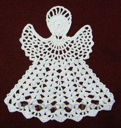 Enfeite de Natal em Crochet - Anjo Natalino - Tricô e Crochê - Knitting and Crochet