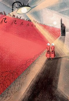 Book Illustration by Elena and Anna Balbusso for The Handmaid's Tale by Margaret Atwood published by The Folio Society. Margaret Atwood, A Handmaids Tale, The Handmaid's Tale Book, Handmade Tale, Persona Feliz, Fanart, Cultura Pop, Book Worms, A Team