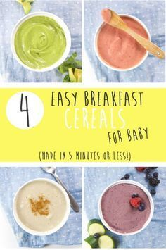 These 4 Easy Breakfasts Cereals for Baby are for the working moms, the homemade moms and the just-trying-to-get-through-breakfast moms. Filled with fruits, vegetables and healthy wholesome grains, these easy 5-minute cereals are as delicious as they are nutritious for your little one!