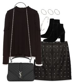 """""""Untitled #2913"""" by theeuropeancloset ❤ liked on Polyvore featuring Piel Leather, MANGO, Yves Saint Laurent, ASOS and Gucci"""