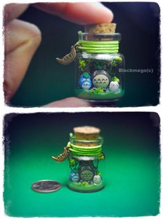 Nano totoro bottle by =Blackmago on deviantART