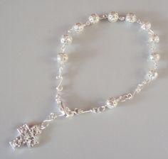 "Pulsera ""Decenario"" Renaissance Jewelry, Medieval Jewelry, Pagan Jewelry, Victorian Jewelry, Bohemian Jewelry, Bohemian Necklace, Silver Stars, Turquoise Jewelry, Pearl Beads"
