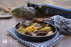 Patate e carciofi al forno una ricetta molto amata dai miei cari e semplicissima da preparare ma davvero buona. Ovviamente si potrebbe fare la cottura
